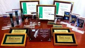 A variety of safety awards earned 2011-2016