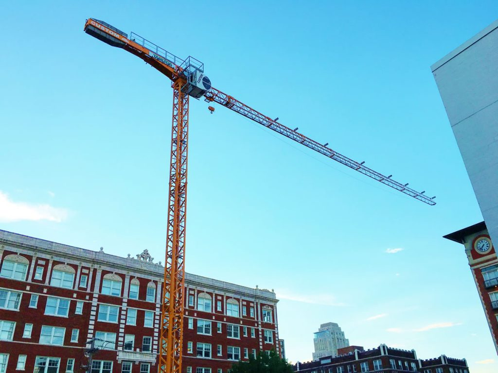 tower crane at Central West End in St. Louis