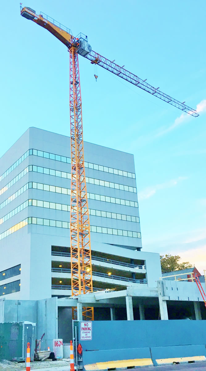tower crane in St. Louis