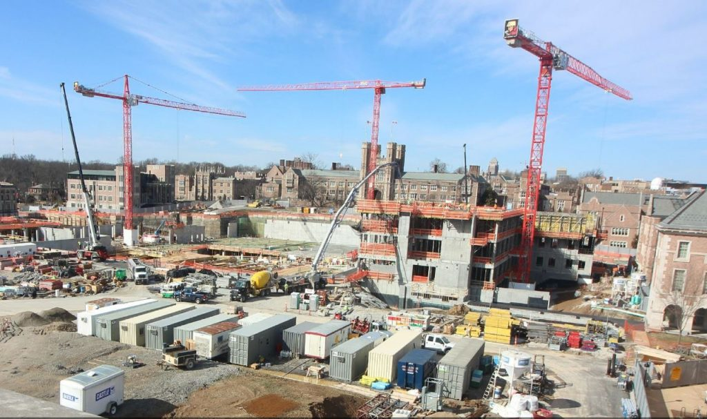Progress with East End Transformation at Wash U with 3 Wolffkrans