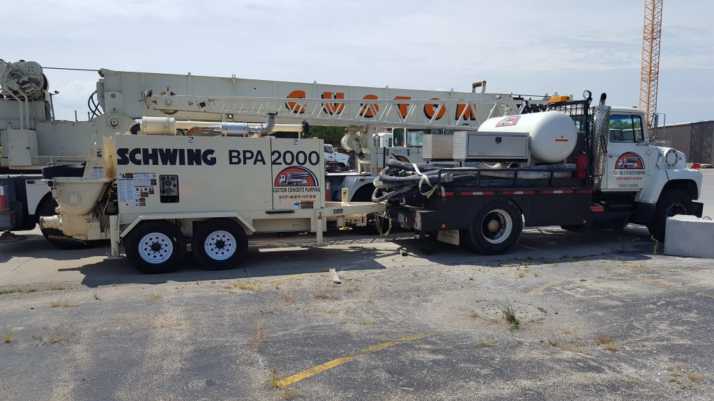 Our trailer pump is a convenient option for pumping concrete.